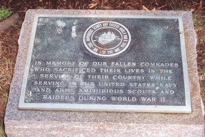 Amphibious Scouts and Raiders World War II Marker Photo, Click for full size