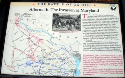 Aftermath: The Invasion of Maryland Marker image. Click for full size.
