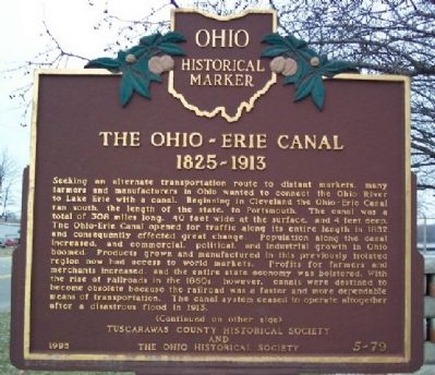 The Ohio and Erie Canal Marker (Side A) Photo, Click for full size