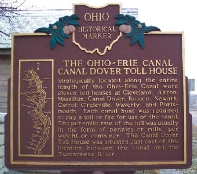 The Ohio and Erie Canal Marker (Side B) Photo, Click for full size