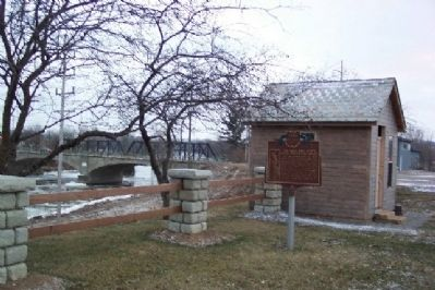 The Ohio and Erie Canal Marker Photo, Click for full size