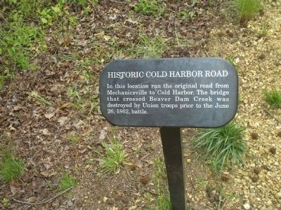 Historic Cold Harbor Road Marker image. Click for full size.