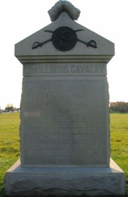 8th Illinois Cavalry Monument Photo, Click for full size