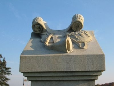 Detail of the Saddle On Top of Monument Photo, Click for full size