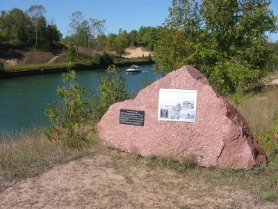 Sturgeon Bay and Lake Michigan Ship Canal & Marker Photo, Click for full size