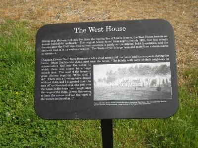 The West House Marker Photo, Click for full size