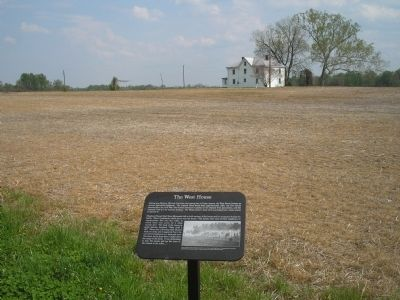 Marker and the West House Marker Photo, Click for full size