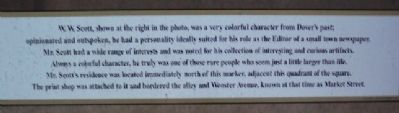 W. W. Scott Marker Text image. Click for full size.