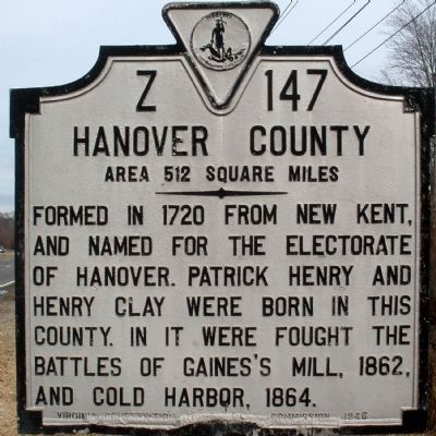 Hanover County Marker Photo, Click for full size