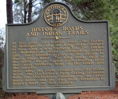 Historic Roads And Indian Trails Marker Photo, Click for full size