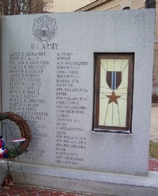 Tuscarawas County Viet-nam Veterans Memorial Army Panel Photo, Click for full size