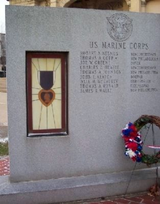 Tuscarawas County Viet-nam Veterans Memorial Marine Corps Panel Photo, Click for full size