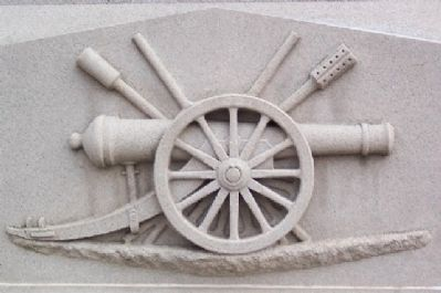 Tuscarawas County Civil War Memorial Artillery Motif image. Click for full size.
