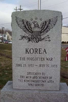 Newcomerstown Korean War Memorial Photo, Click for full size