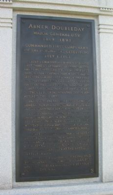 Front Plaque on Monument Photo, Click for full size