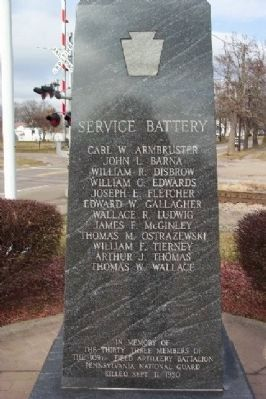Pennsylvania National Guard Troop Train Accident Memorial image. Click for full size.