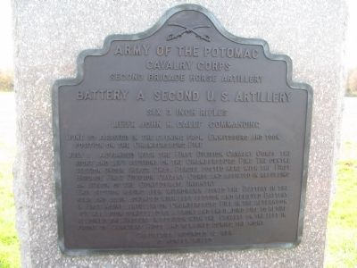 Battery A, Second U.S. Artillery Tablet image. Click for full size.