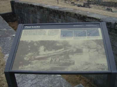 Close-up of Four Locks Marker Photo, Click for full size