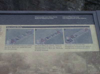 Close-up image of Four Locks marker Photo, Click for full size