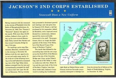 Jackson�s 2nd Corps Established Marker Photo, Click for full size