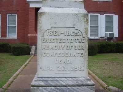 Crawfordville Confederate Memorial Marker Photo, Click for full size