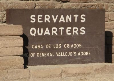 Servants Quarters Marker Photo, Click for full size