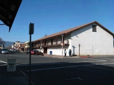 Sonoma Barracks Looking West on East Spain Street image. Click for full size.