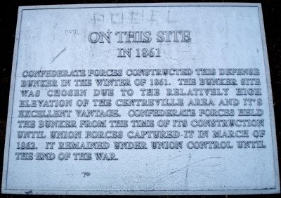 On This Site In 1861 Marker image. Click for full size.