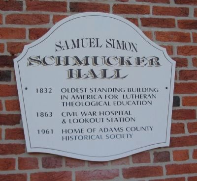 Samuel Simon Schmucker Hall Marker image. Click for full size.