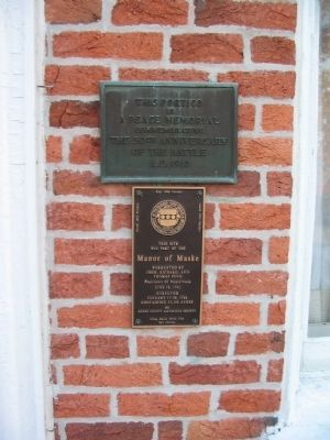 Plaques on the Portico image. Click for full size.