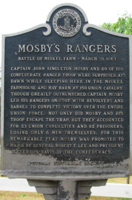 Mosby's Rangers Marker Photo, Click for full size