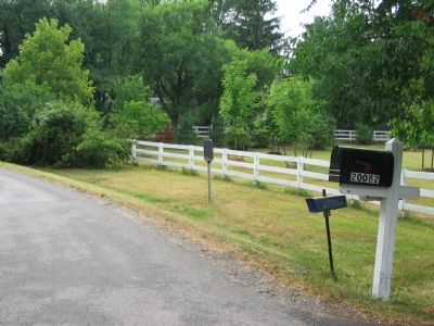 Marker is at the Entrance to the Miskel Farm Photo, Click for full size