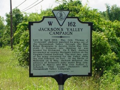 Jackson�s Valley Campaign Marker Photo, Click for full size