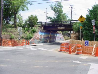 Crozet AvenueRailroad Overpass image. Click for full size.