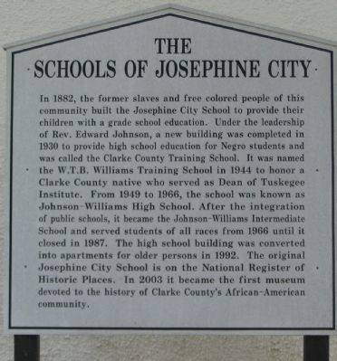 The Schools of Josephine City Marker image. Click for full size.