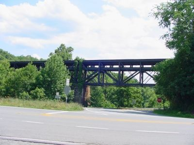 Railroad Bridge over Highway and Mechum�s River Photo, Click for full size