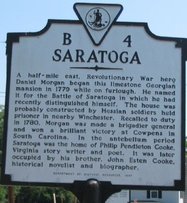Saratoga Marker Photo, Click for full size