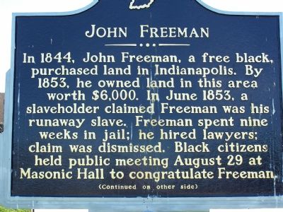 Side One: John Freeman Marker image. Click for full size.
