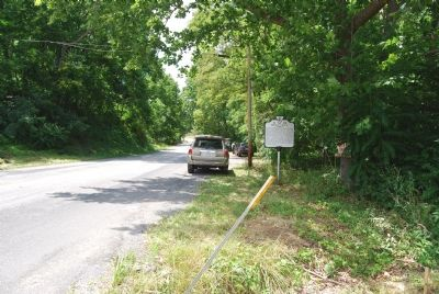 Marker on Iron Works Road Photo, Click for full size