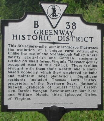 Greenway Historic District Marker image. Click for full size.