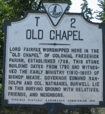 Old Chapel Marker image. Click for full size.