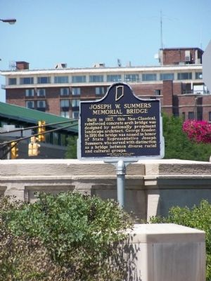 Joseph W. Summers Memorial Bridge Marker image. Click for full size.