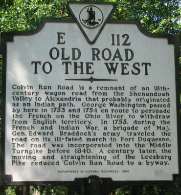 Old Road To The West Marker image. Click for full size.