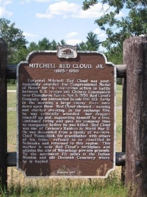 Previous Mitchell Red Cloud, Jr. Marker Photo, Click for full size