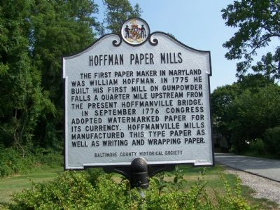 Hoffman Paper Mills Marker Photo, Click for full size