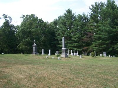 Hoffman Cemetery adjacent to the marker. Photo, Click for full size