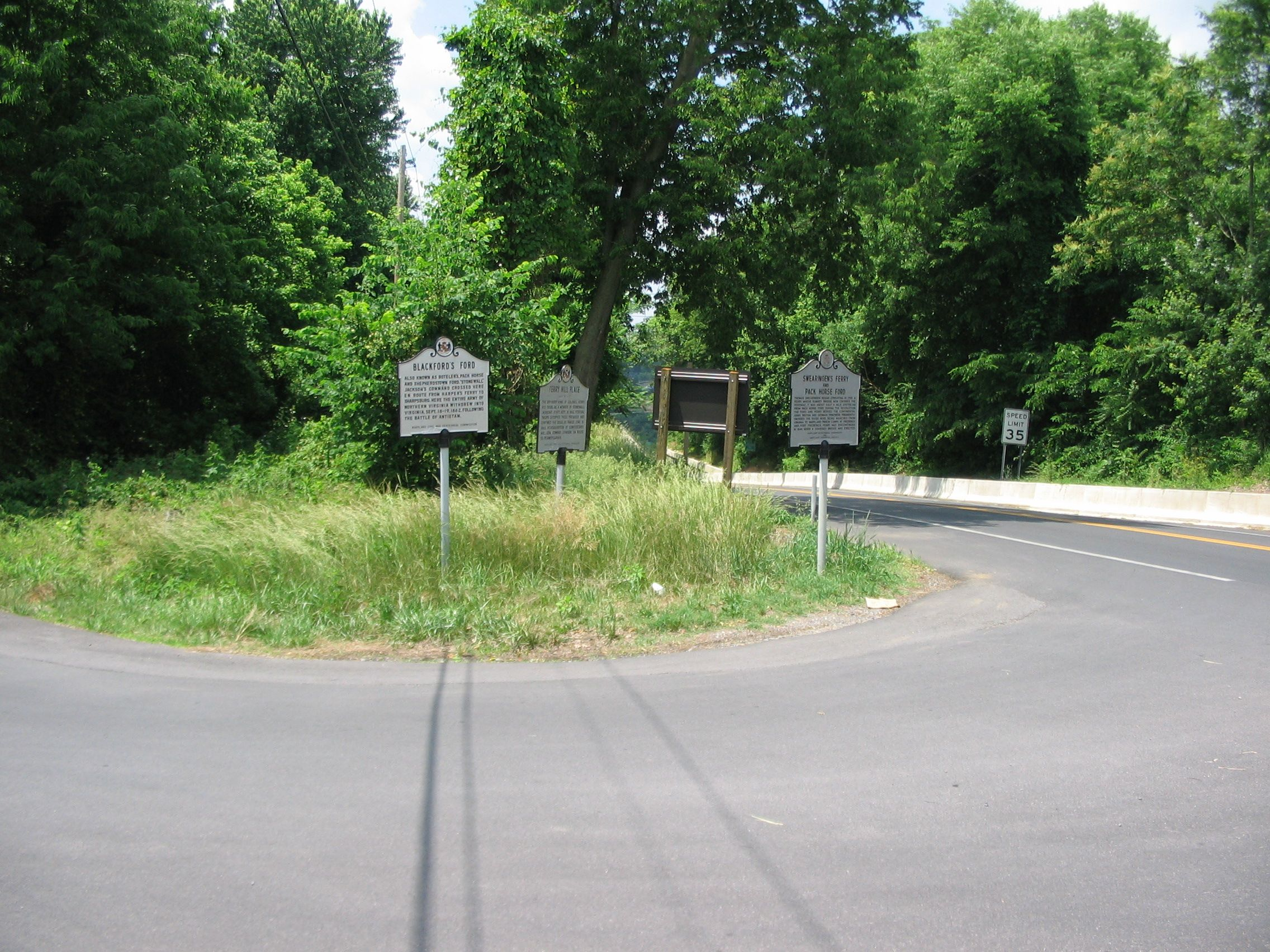 Markers Clustered at the Intersection of Shepherdstown Pike and Canal Road
