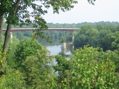 Rumsey Bridge Seen from the Rumsey Monument, Shepherdstown, WV image. Click for full size.