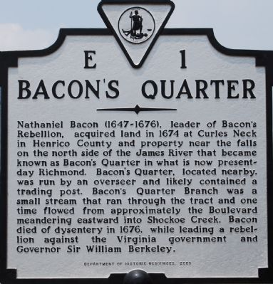 Bacon's Quarter Marker image. Click for full size.