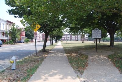 Marker on W Leigh Street at Brook Road Photo, Click for full size